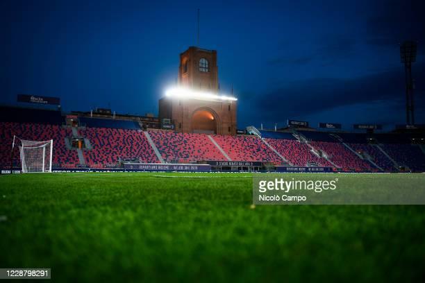 General view shows empty stadio Renato Dall'Ara prior to the Serie A football match between Bologna FC and Parma Calcio. Bologna FC won 4-1 over...