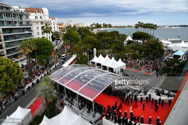 A general view shows guests arriving for the screening of the film The Dead Don't Die during the 72nd edition of the Cannes Film Festival in Cannes...