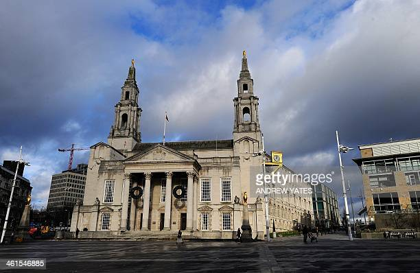 A general view shows Leeds Civic Hall in Leeds northwest England on January 9 2014 The Grade II listed Leeds Civic Hall was built in the 1930s as a...