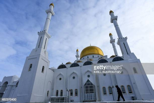 A general view shows NurAstana mosque in Astana on January 22 2017 The socalled Astana peace talks set to begin on Monday will be the first time a...