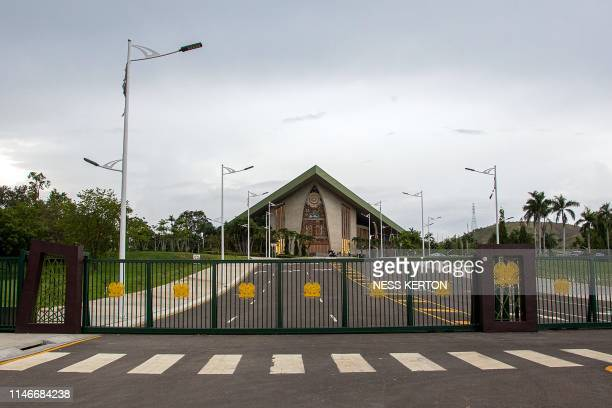 A general view shows Parliament house during a session in Port Moresby on May 28 2019 Papua New Guinea Prime Minister Peter O'Neill stalled his...