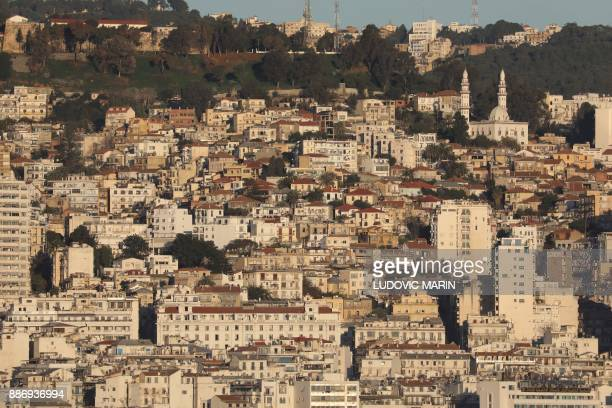 A general view shows part of Algiers at sunrise on December 6 2017