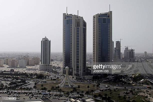 A general view shows Pearl Square in Manama on February 17 2011 after riot police stormed through the square firing rubber bullets and tear gas in a...
