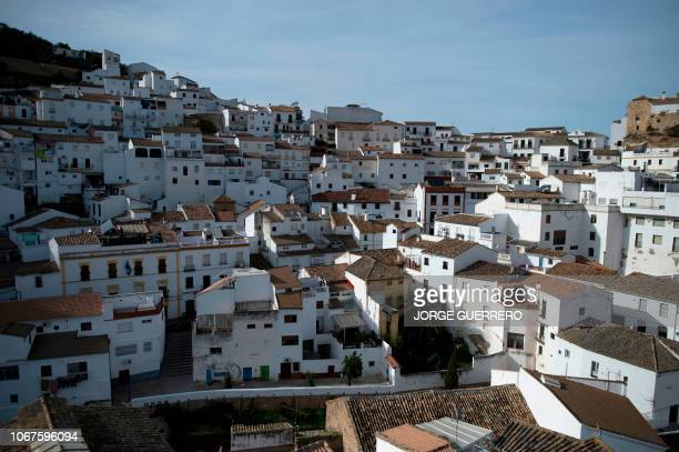 General view shows Setenil de las Bodegas near Cadiz on December 2, 2018 during Andalusia's regional election.