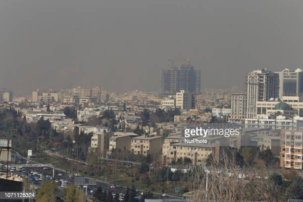 A general view shows smog obscures buildings in Tehran Iran 10 December 2018