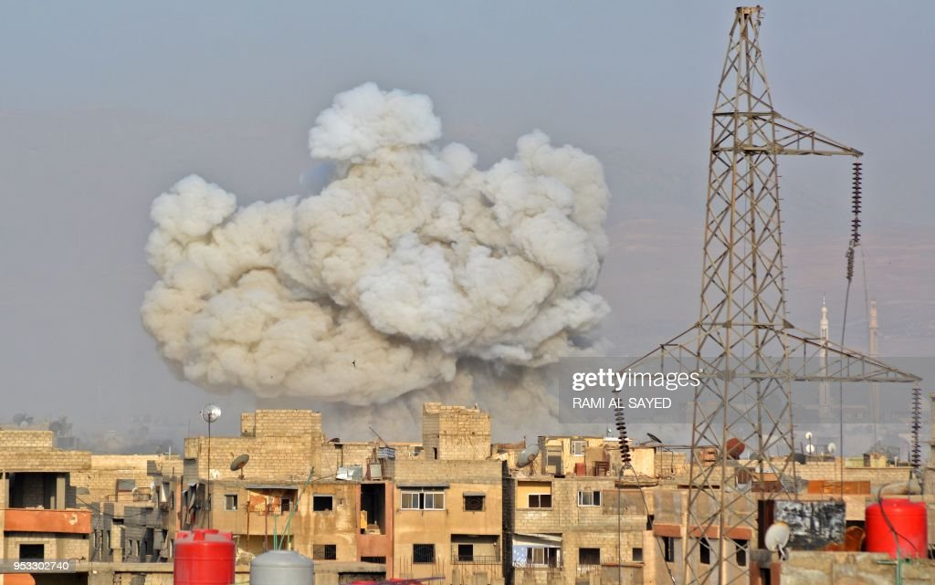 TOPSHOT-SYRIA-CONFLICT-YARMUK : News Photo