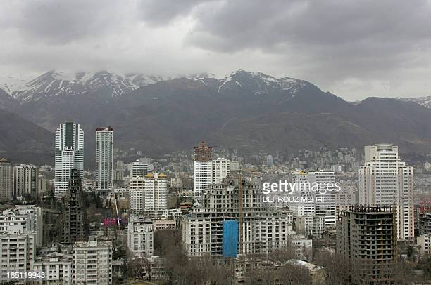 A general view shows Tehran's wealthy northern neighbourhood as seen from the rooftop of a multistorey building on March 12 2008 Iran's leaders urged...