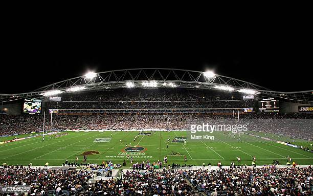 A general view shows Telstra stadium during the NRL Grand Final match between the Brisbane Broncos and the Melbourne Storm October 1 2006 in Sydney...