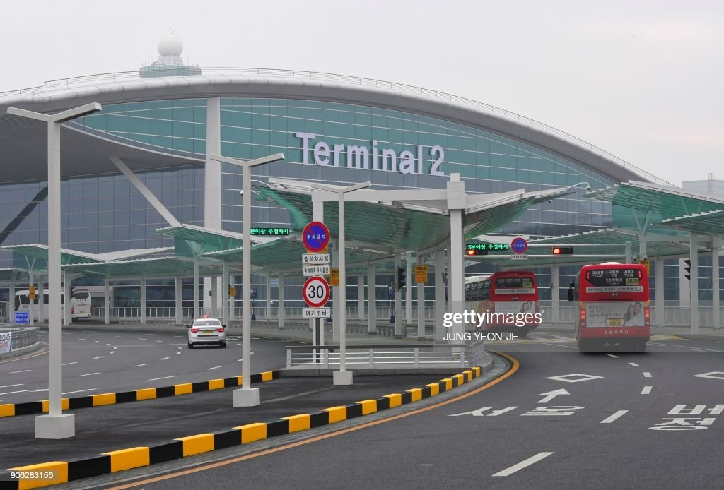 A general view shows Terminal 2 of Incheon International Airport, west of Seoul, on January 18, 2018. Incheon airport, South Korea's top gateway, on January 18 opened its second terminal, three weeks before the opening of the Pyeongchang Olympics, airport authorities said. Terminal 2 houses four airlines -- South Korea's flag carrier Korean Air, Air France, Delta, and KLM Royal Dutch Airlines.