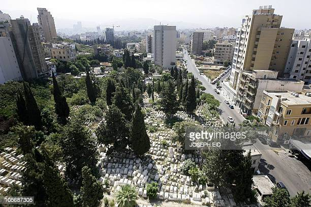 A general view shows the abandoned Jewish cemetery in the Sodeco district of the Lebanese capital Beirut on August 24 2010 There are about 300 Jews...