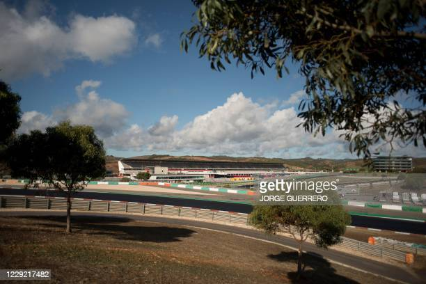 General view shows the Algarve International Circuit in Portimao on October 22, 2020 ahead of the Portuguese Formula One Grand Prix.