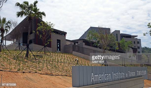 A general view shows the American Institute in Taiwan new office complex in Taipei on June 12 2018 Washington on June 12 unveiled a...