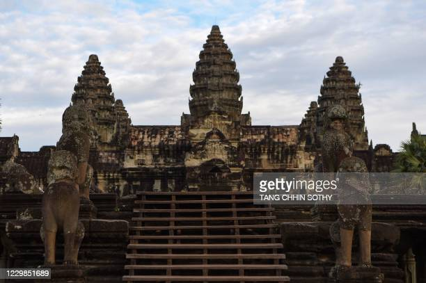 General view shows the Angkor Wat temple in Siem Reap province on November 29, 2020.