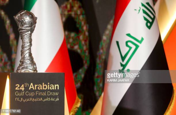 A general view shows the Arabian Gulf Cup following the draw for the 24th Arabian Gulf Cup in the capital Doha on November 14 2019 Saudi Arabia the...