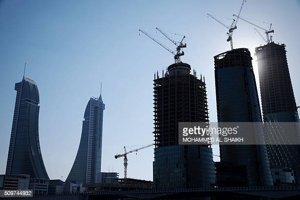 A general view shows the Bahrain Financial Harbour building in the capital Manama on February 10 2016 Five years after the popular uprising was...