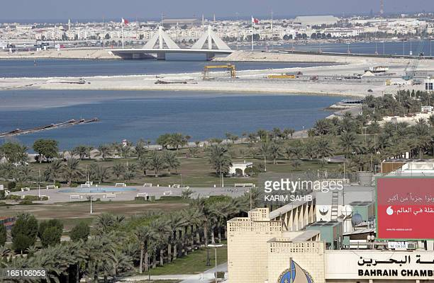 A general view shows the Bahraini capital Manama 23 November 2006 Bahrain which goes to the polls 25 November 2006 to elect a new parliament and...