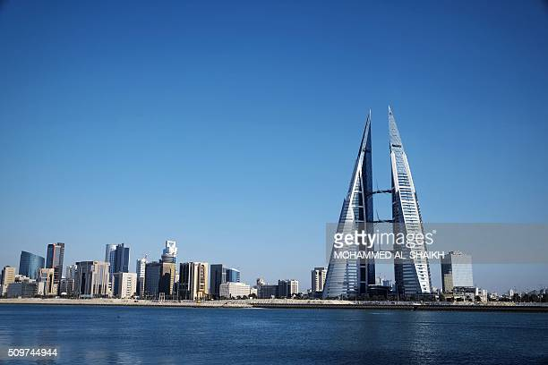 General view shows the Bahraini capital, Manama, on February 10, 2016. Five years after the popular uprising was harshly repressed, the Kingdom of...
