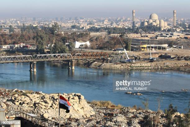 A general view shows the banks of the Tigris river in Mosul's Old City on January 8 six months after Iraqi forces seized the country's second city...