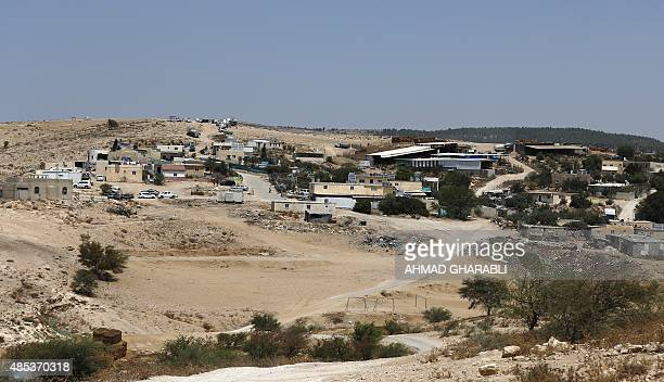 A general view shows the Bedouin village Umm AlHiran which is not recognized by the Israeli government near the southern city of Beersheba in the...