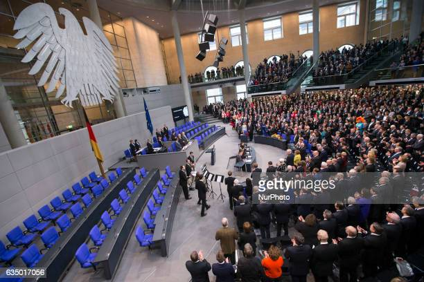 General view shows the Bundesversammlung as the President of the Bundestag Norbert Lammert holds a speech before opening the voting for the election...
