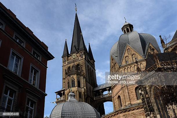 A general view shows the cathedral of Aachen western German on January 28 2014 STOLLARZ