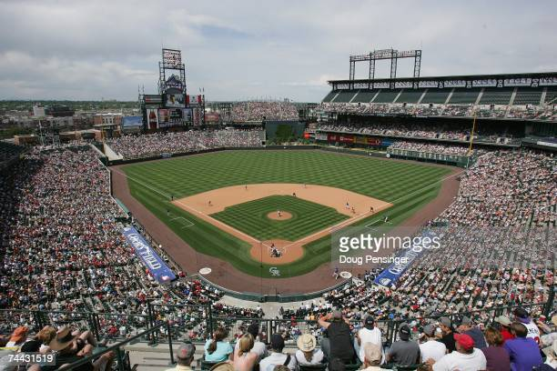 General view shows the Colorado Rockies game against the St. Louis Cardinals at Coors Field on May 28, 2007 in Denver, Colorado. The Rockies won 6-2.