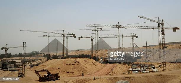 A general view shows the construction site of the Grand Egyptian Museum Giza Egypt 17 March 2014 The total cost of constructing the museum is 350...