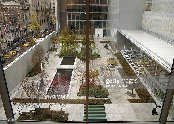 A general view shows the courtyard with the sculpture garden of the Museum of Modern Art after it reopened to the general public 20 November in New...