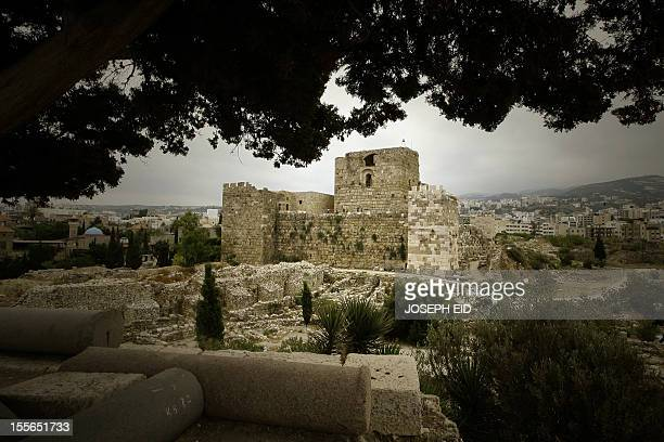 A general view shows the Crusaders' Citadel in the Lebanese ancient port city of Byblos on August 10 2010 AFP PHOTO/JOSEPH EID