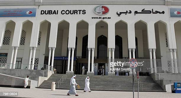 A general view shows the Dubai court where an appeal was upheld on February 17 2008 for two 15year jail terms handed down against two Emiratis...