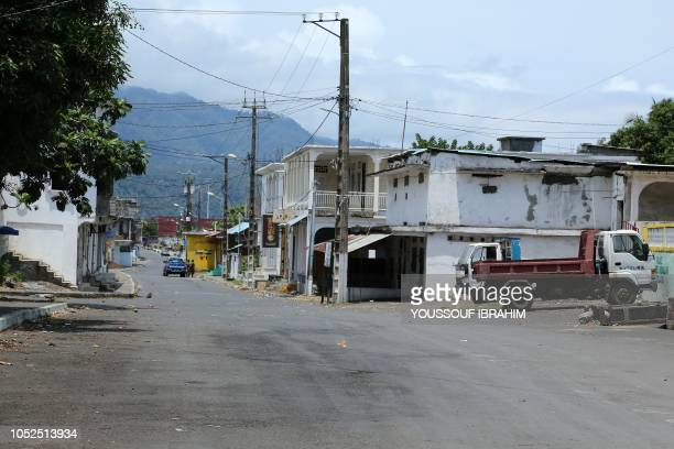 A general view shows the entrance of the 'Medina' in Mutsamudu on the island of Anjouan Comoros on October 19 2018 Comoros security forces...