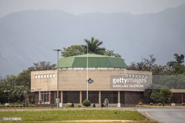 General view shows the eSwatini Parliament in Lobamba on September 22, 2018. - On April 19 King Mswati III -- one of the world's last absolute rulers...