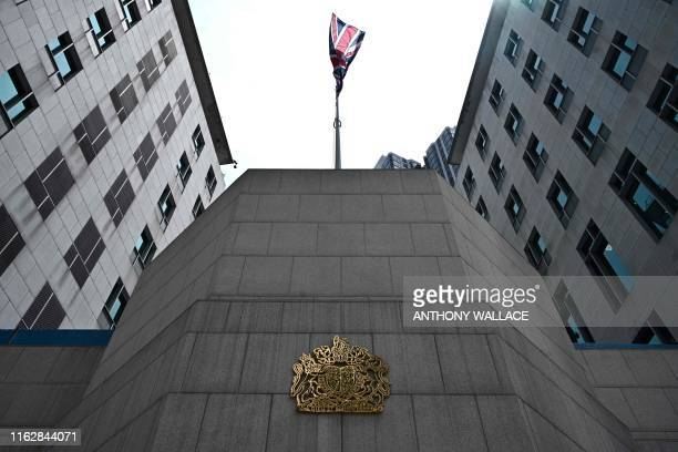 A general view shows the exterior of the British ConsulateGeneral building in Hong Kong on August 20 2019 Britain's Foreign Office said on August 20...