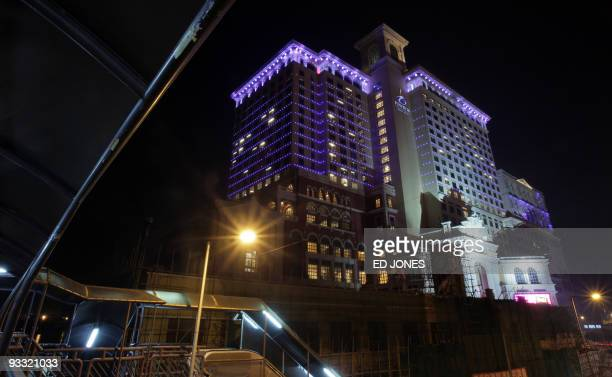 A general view shows the exterior of the Ponte 16 hotel and gaming resort in Macau on November 22 2009 The hotel in the glitzy Asian gambling haven...