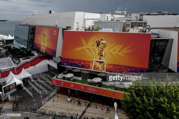 General view shows the Festival's Palace during the 72nd edition of the Cannes Film Festival in Cannes, southern France, on May 20, 2019.