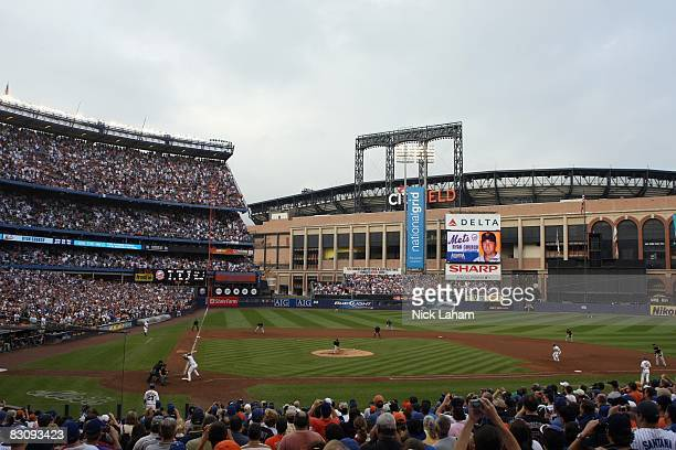 A general view shows the final pitch between the New York Mets and the Florida Marlins during the last regular season baseball game ever played in...