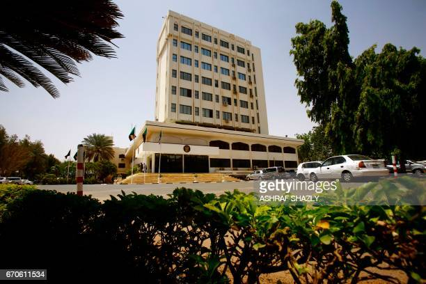 A general view shows the Foreign Ministry building in the Sudanese capital Khartoum on April 20 2017 / AFP PHOTO / ASHRAF SHAZLY