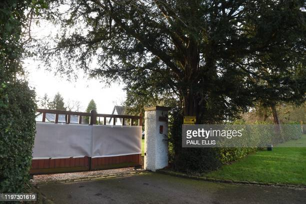 A general view shows the front of the home of Manchester United executive vicechairman Ed Woodward in the village of Lower Peover near Knutsford...