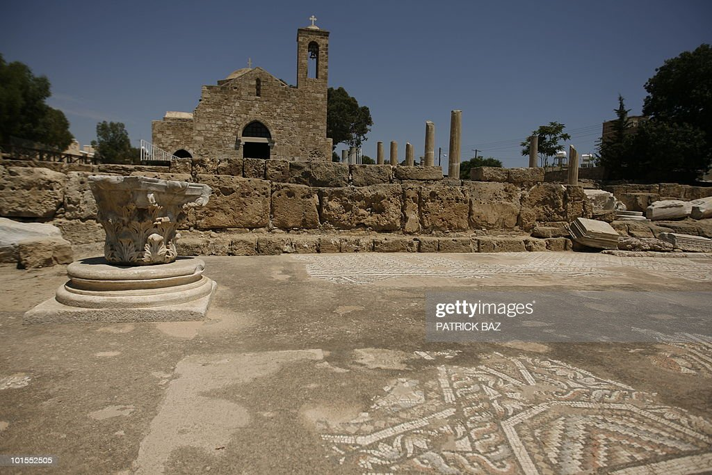 S VISIT TO CYPRUS A general view shows the grounds of Agia Kyriaki Chrysopolitissa, known as the 'Church by St