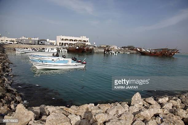A general view shows the harbour of Madinat alShamal north of the Qatari capital Doha on February 11 2010 AFP PHOTO/KARIM JAAFAR