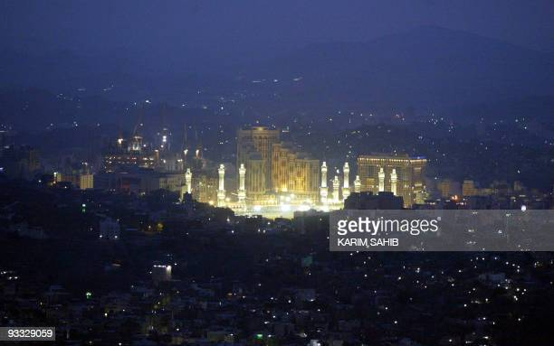 A general view shows the holy Saudi city of Mecca after sunset from Jebel alNoor or Mount of Light during the annual Hajj rituals 16 January 2005...