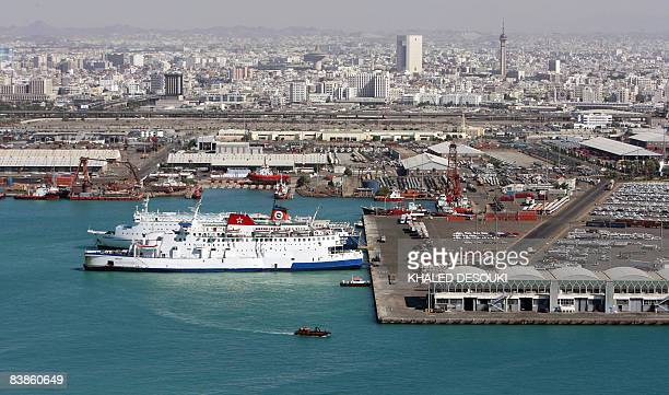 A general view shows the Jeddah Islamic Port off the Red Sea on November 30 2008 AFP PHOTO/KHALED DESOUKI