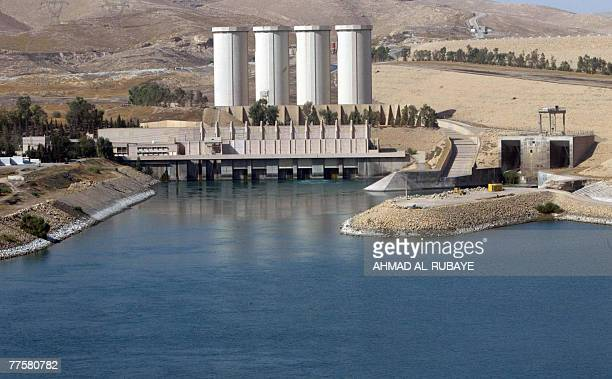 A general view shows the Mosul dam on the Tigris River around 50 kilometres north of the northern Iraqi city of Mosul 31 October 2007 Iraq today...