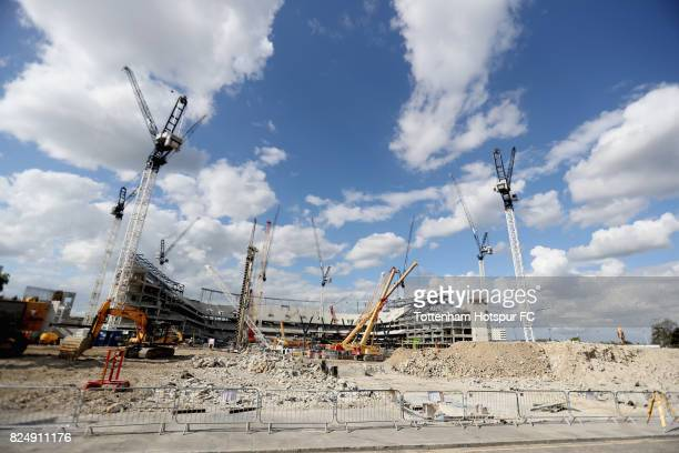 A general view shows the new venue from the former south stand at White Hart Lane on July 31 2017 in London England