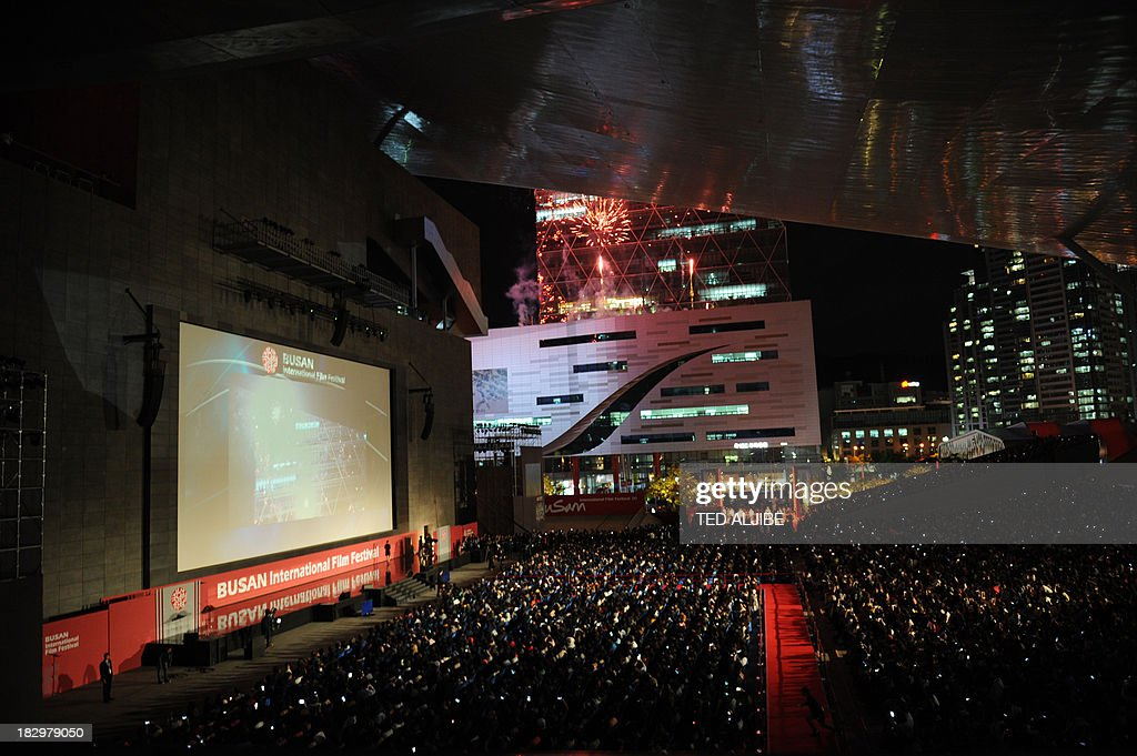 A general view shows the opening ceremony of the 18th Busan International Film Festival (BIFF) in Busan on October 3, 2013. Stars of Asian cinema gathered in the South Korean port city of Busan October 3, for the opening of the region's biggest film festival, showcasing new talent in a region where box office takings will soon outstrip North America.