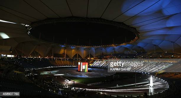 General view shows the opening ceremony of the 22nd Gulf Cup football tournament prior to Saudi Arabia's match against Qatar in Riyadh on November...