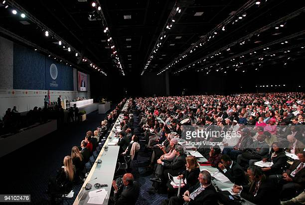 General view shows the opening ceremony of the United Nations Climate Change Conference 2009 on December 7 2009 in Copenhagen Denmark Politicians and...