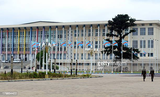 """General view shows the People's Palace in the Congolese capital Kinshasa on September 7, 2013. Congolese President Joseph Kabila launched """"national..."""