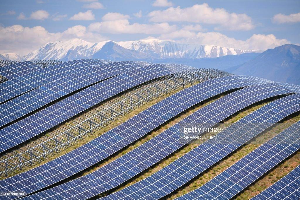 FRANCE-ENERGY-SOLAR-PHOTOVOLTAICS-ENVIRONMENT : News Photo