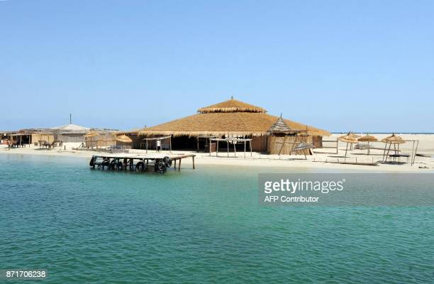 A general view shows the Pink flamingo Island on August 2 2010 near Djerba AFP PHOTO / FETHI BELAID / AFP PHOTO / Fethi Belaid